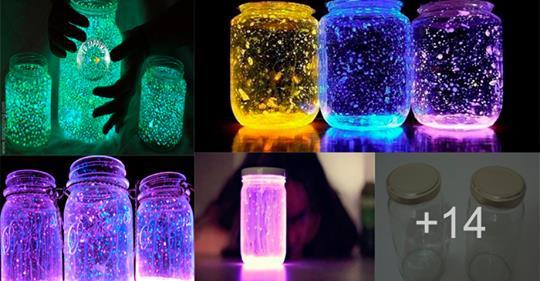 Aprende a hacer frascos luminosos