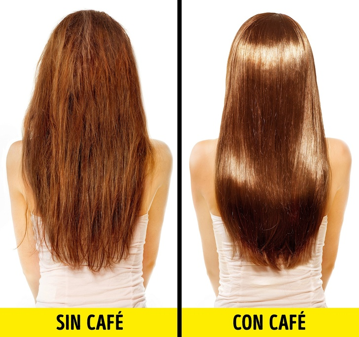 Café para darle brillo al cabello