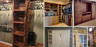 Closets de madera reciclada