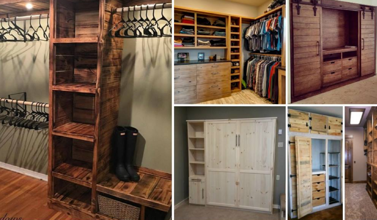 12 closets que puedes hacer t mismo con madera reciclada - Como hacer un closet en una habitacion ...