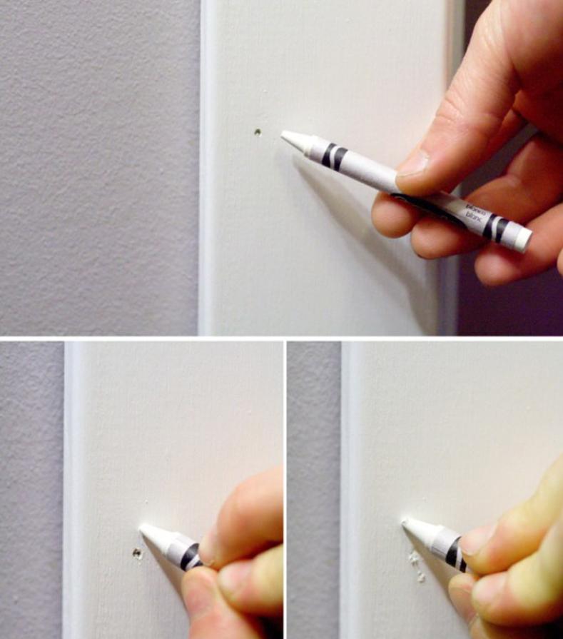 Como quitar marcas de clavos con crayón