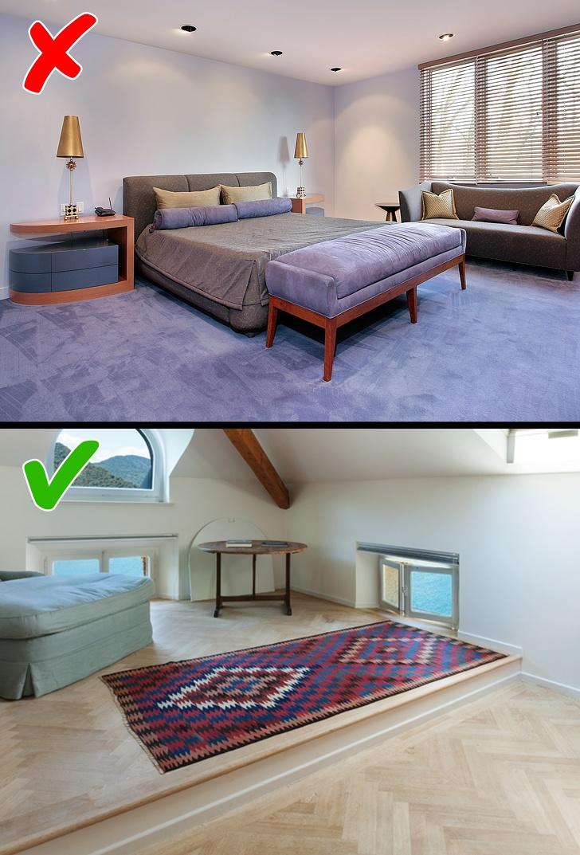 Piso de alfombra en toda la casa