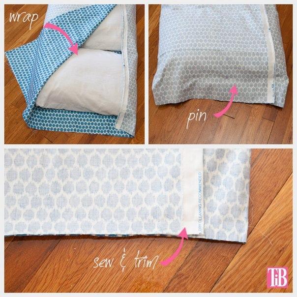 3. Coser laterales para colchon de almohadas