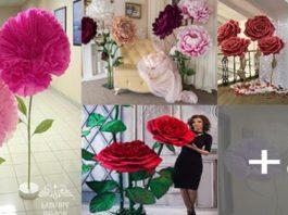 Aprende a hacer flores gigantes paradas de papel para decorar cualquier evento