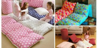 Aprende como hacer un fantástico Colchón con almohadas. Son muy cómodos para tus hijos!