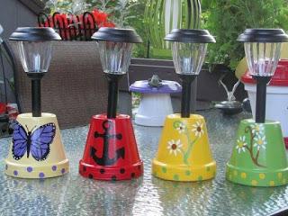 Materiales necesarios para elaborar las lámparas de jardín