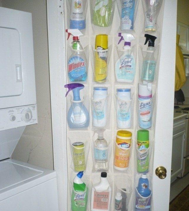 Ordena los productos de tu baño con una zapatera