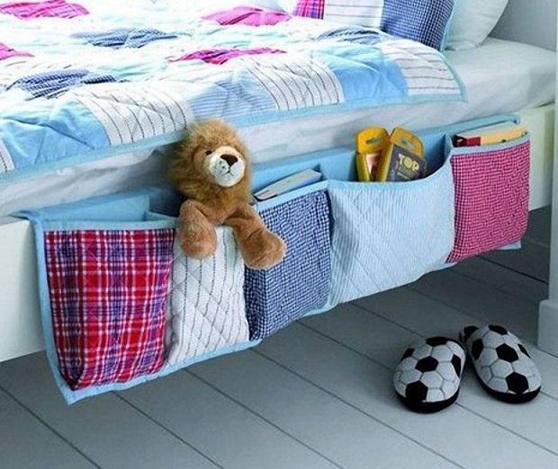 Tu cama también puede utilizarse para guardar cosas