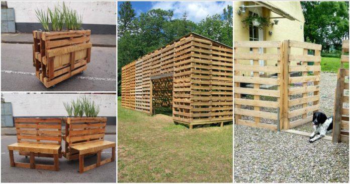 Fantasticas Ideas Para Transformar Las Viejas Palets En Muebles Para - Ideas-para-reciclar-unos-palets