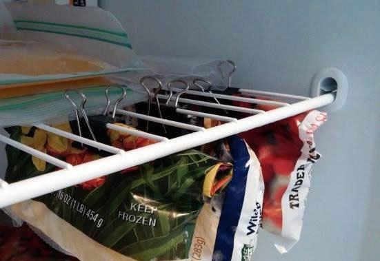 Alimentos en bolsas plásticas