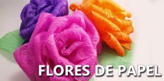 Aprende a hacer flores de papel crepe en pocos minutos