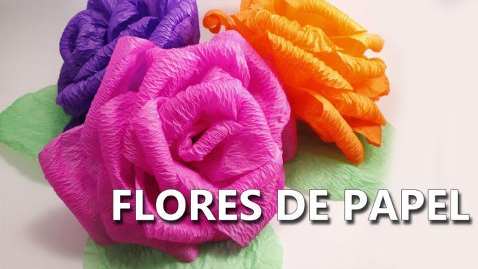 Aprende A Hacer Flores De Papel Crepe En Pocos Minutos Mi Libro De - Hacer-flores-con-papel