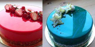 Aprende a preparar un pastel espejo de galaxia. Será la sensación de la fiesta!