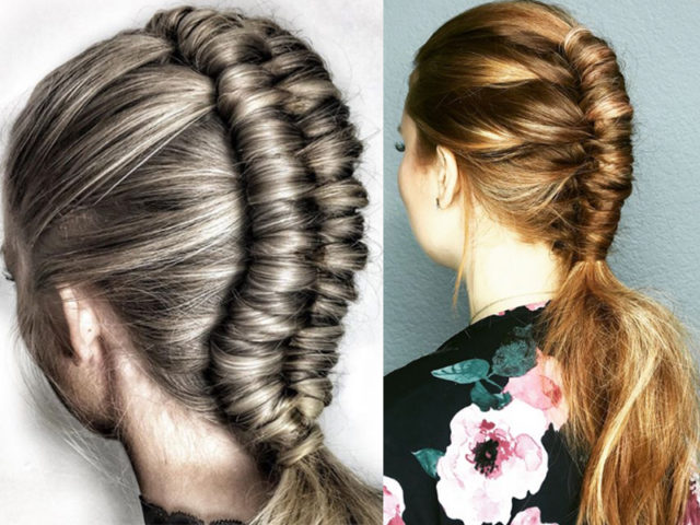 Hermosos peinados trenza pipe braid
