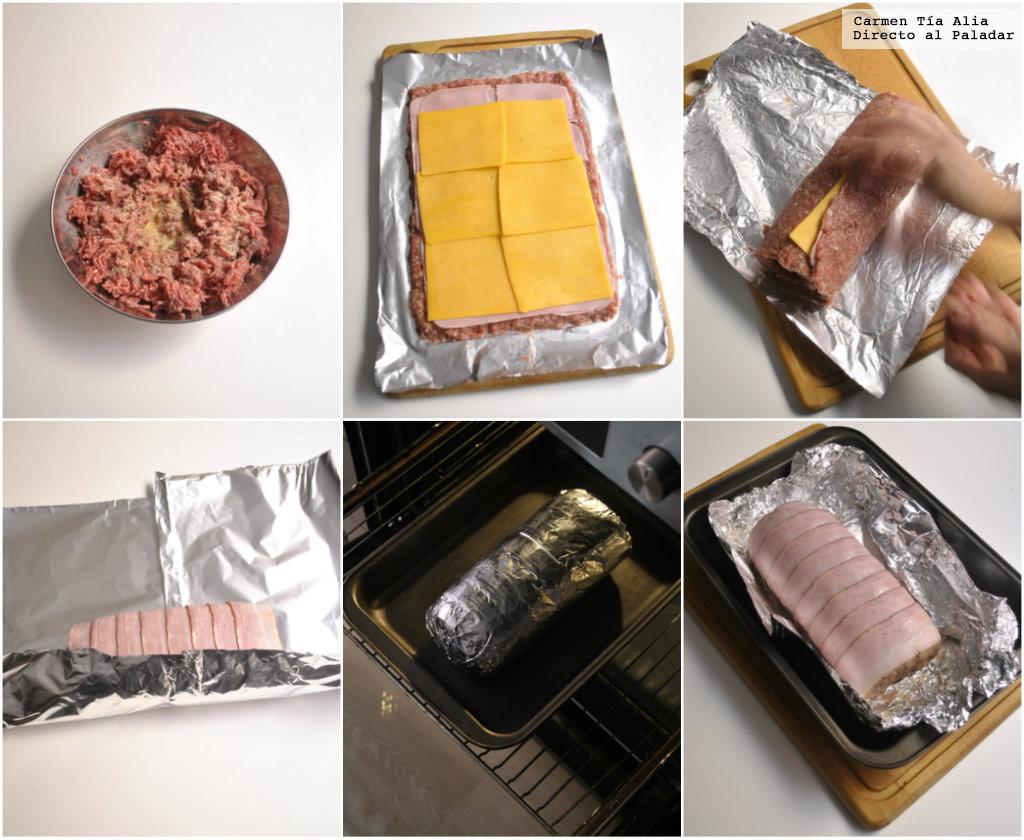 Ingredientes para el Rollo de Carne