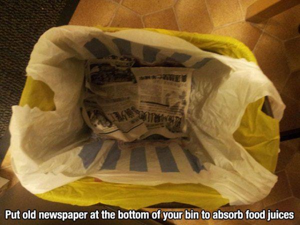 Periódicos en el fondo de tu papelera