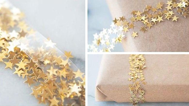 Cinta con estrellas doradas