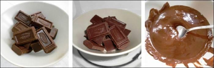 Derretir el chocolate en el microondas