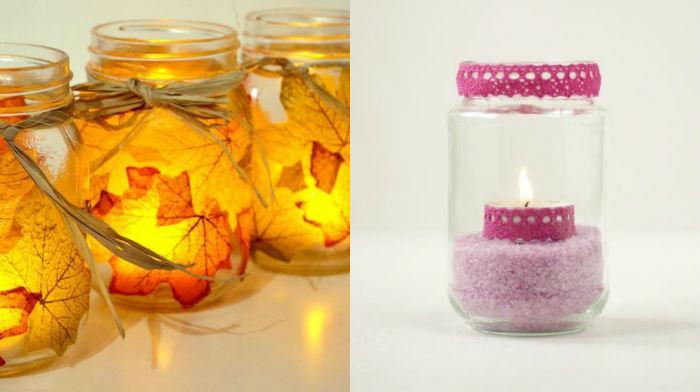 Frascos de cristal para tus velas